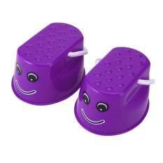 Hình ảnh Ubest Children Kids Outdoor Fun Walk Stilt Jump Smile Face Balance Training Toy Purple
