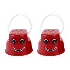 Hình ảnh Ubest Children Kids Outdoor Fun Walk Stilt Jump Smile Face Balance Training Toy Red
