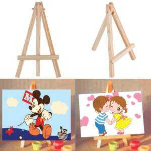 Hình ảnh Ubest Kids Mini Wooden Easel Artist Art Painting Name Card Stand Display Holder Wood