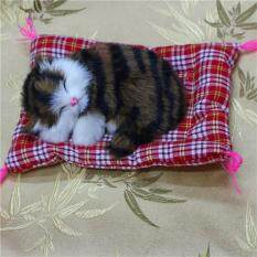 Uinn New Lovely Simulation Animal Doll Plush Sleeping Cats With Sound Kids Toy By Warmness Inn.
