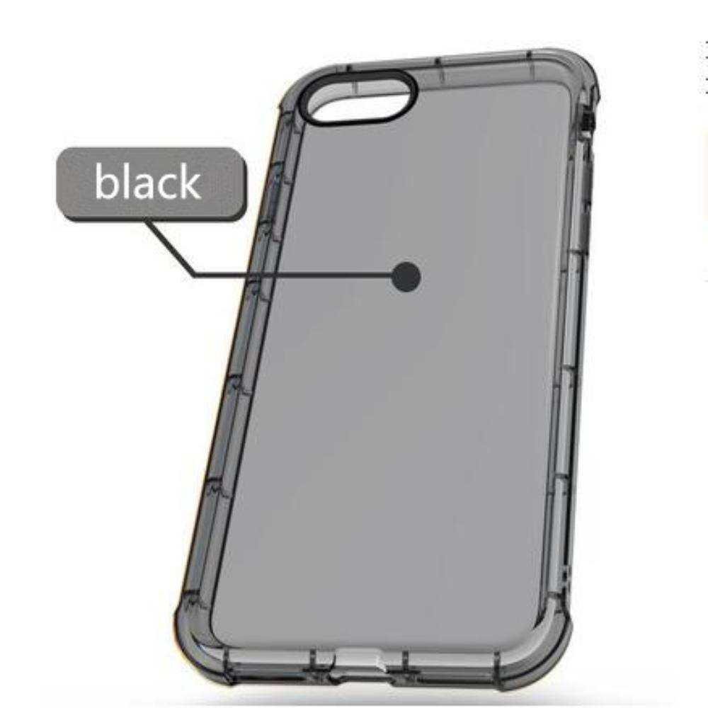 Transparan Ultraramping Jelas Lembut TPU Silikon Anti-Fall Penutup Belakang Iphone 5 Plus/7/7 Pelindung PLUS Warna: hitam Spesifikasi: Iphone 5/6/6
