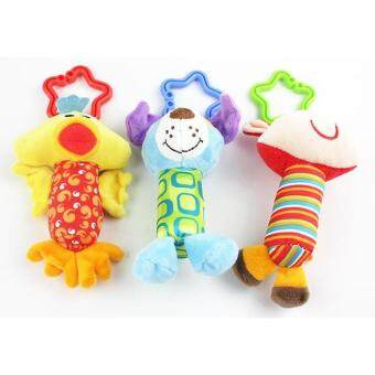 Pencarian Termurah Uncle Sam New Baby Toys Rattle My First Tinkle Trio Hand Bell Multifunctionalplush Toy