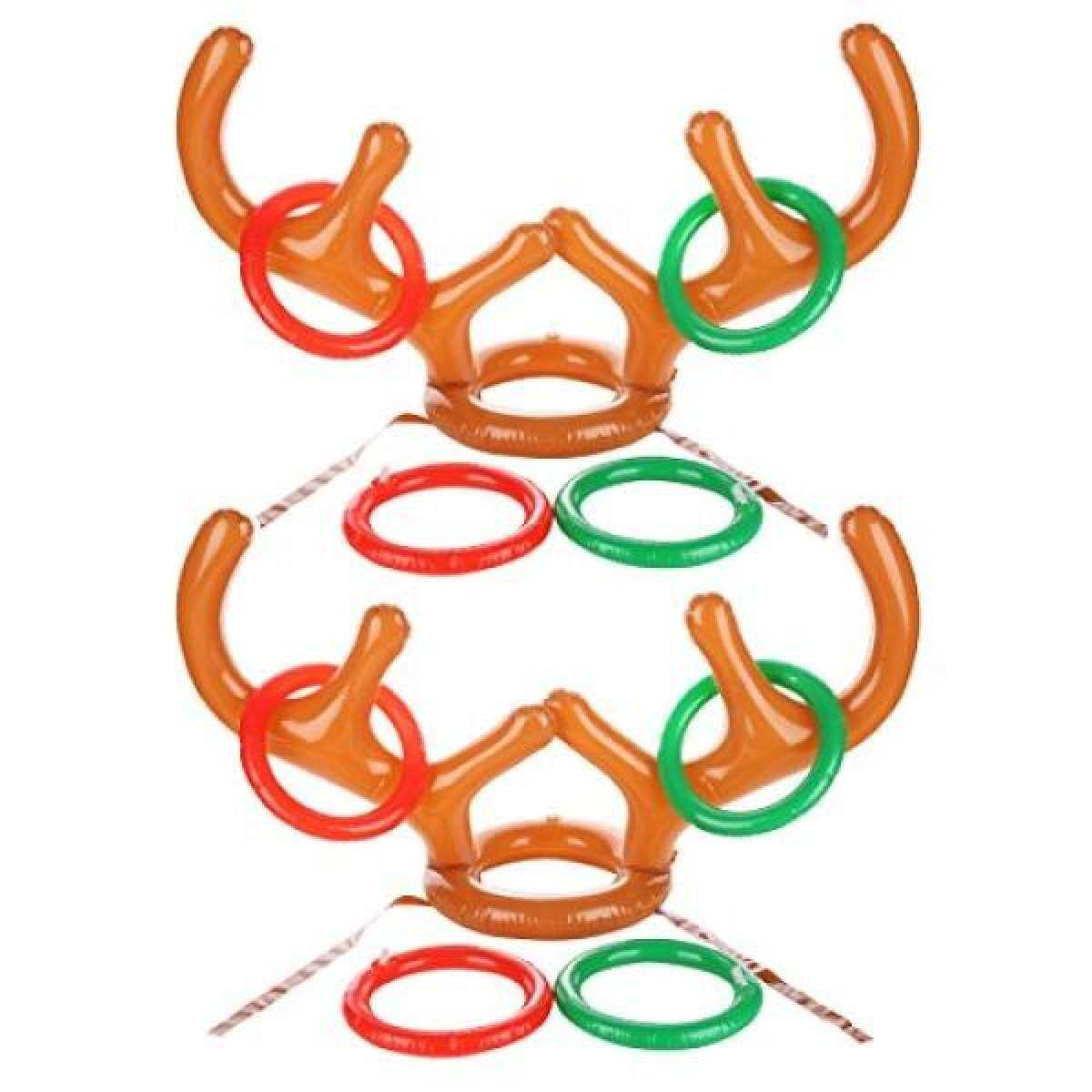 e785fa9f4d678 Uniqhia Two-Player Inflatable Reindeer Antler Ring Toss Game for Christmas  Party