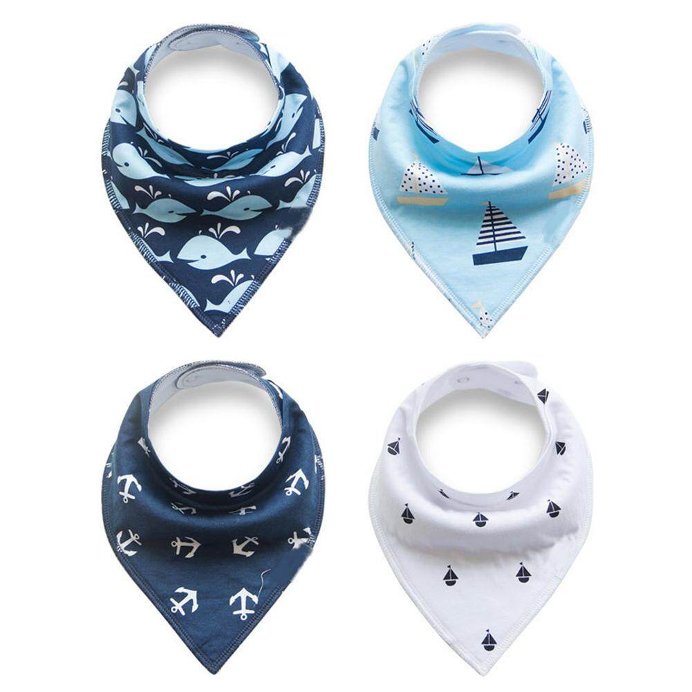 Buy Latest Baby Bazaar Clothing Mom N Bab Polo Shirt Blue Scarf Unisex 4 Pcs Cotton Bibs Double Layer Waterproof Triangular Bib For Drooling Teething