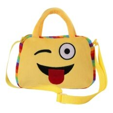 Unisex Kids Baby Cute Yellow Emoji Series Hand Shoulder Bag Crossbody Schoolbag Kindergarten Travel Outdoor Bag Naughty Style By Vococal Shop.