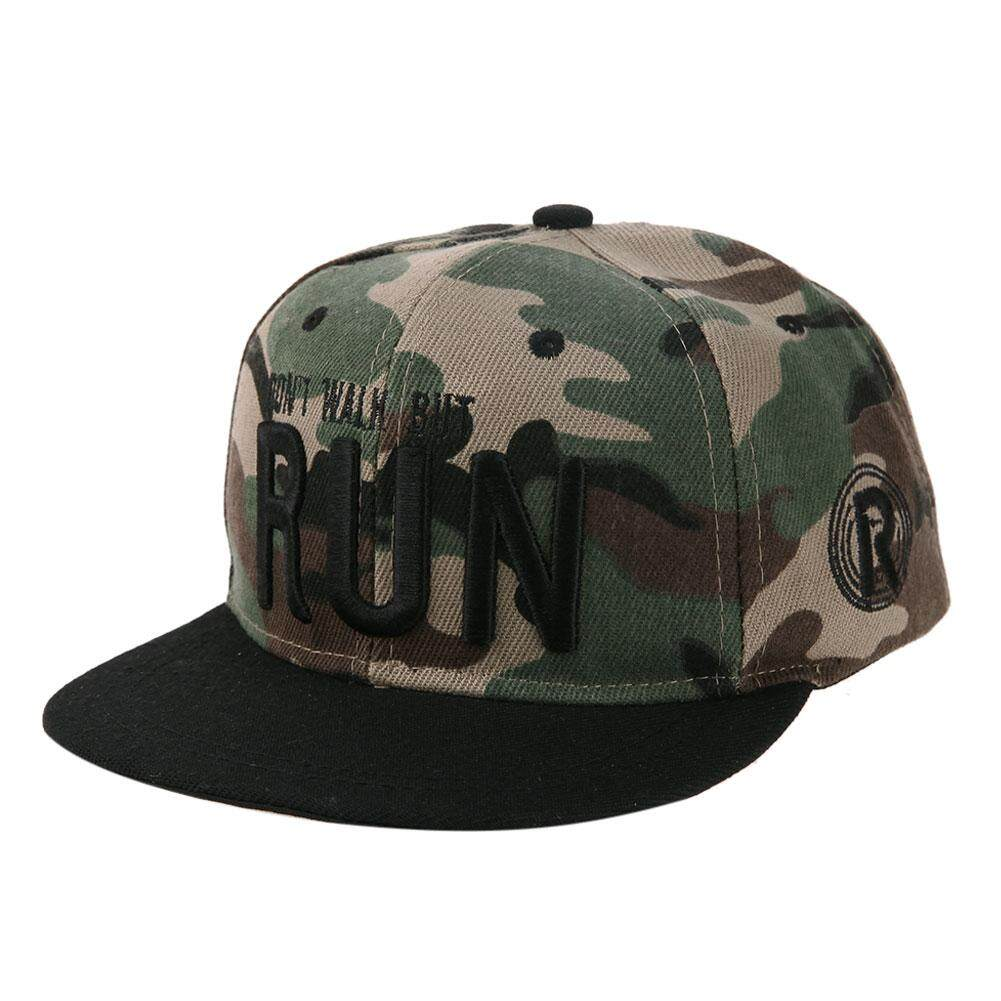 Fast Delivery Unisex Kids Snapback Hat Letter Embroidery Baseball Cap Sun  Hat (Camouflage ce9484185c