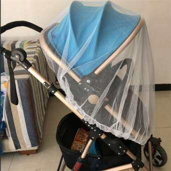 Universal Full Cover Mosquito and Insect Net for Baby Strollers Cradles with Elastic Band-