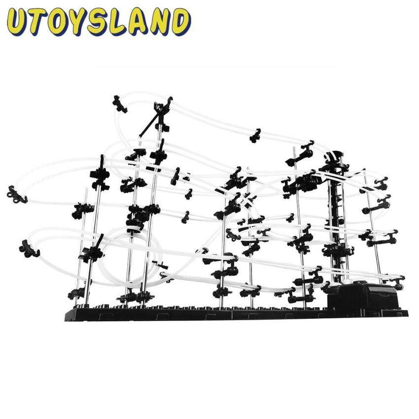 Utoysland Mainan Rakit Sendiri Spacerail Rel Ruang Angkasa Melacak Tingkat 1 2 3 Steelmarble Roller Coaster