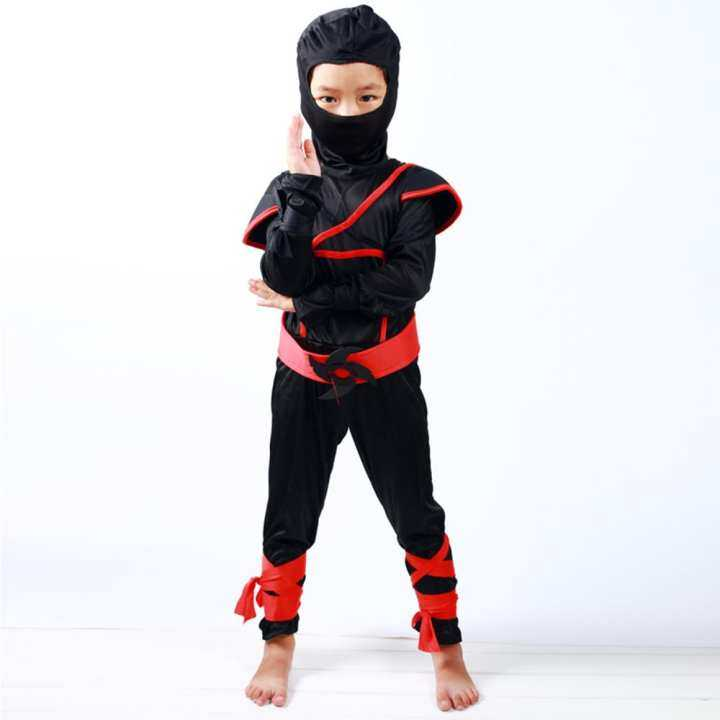 Vanker-Halloween Boys Kids Childs Ninja Assassin Japanese Samurai Warrior Fancy Costume (M)