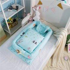 【 Delivery】high 6 ชิ้นชุดผ้าฝ้ายสะดวกเตียงเด็กทารกทำความสะอาดแบบถอดได้เด็ก Quarantine เตียง Bionic เตียงทารกแรกเกิด.