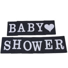 Vintage Baby Shower Birthda Party Banner Photo Props Bunting