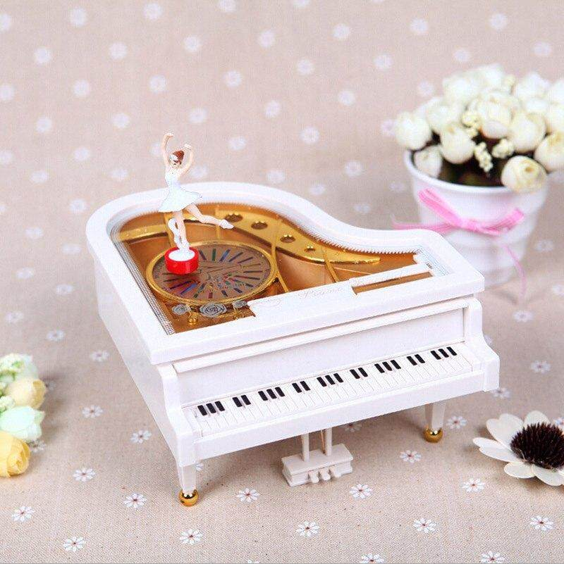 Vintage music box Baby grand piano Ballet Gril shape Christmas music Box Toy - intl