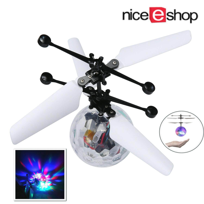 Akerfush RC Toy, RC Flying Ball, RC Helikopter Induksi Inframerah Built-In Shinning