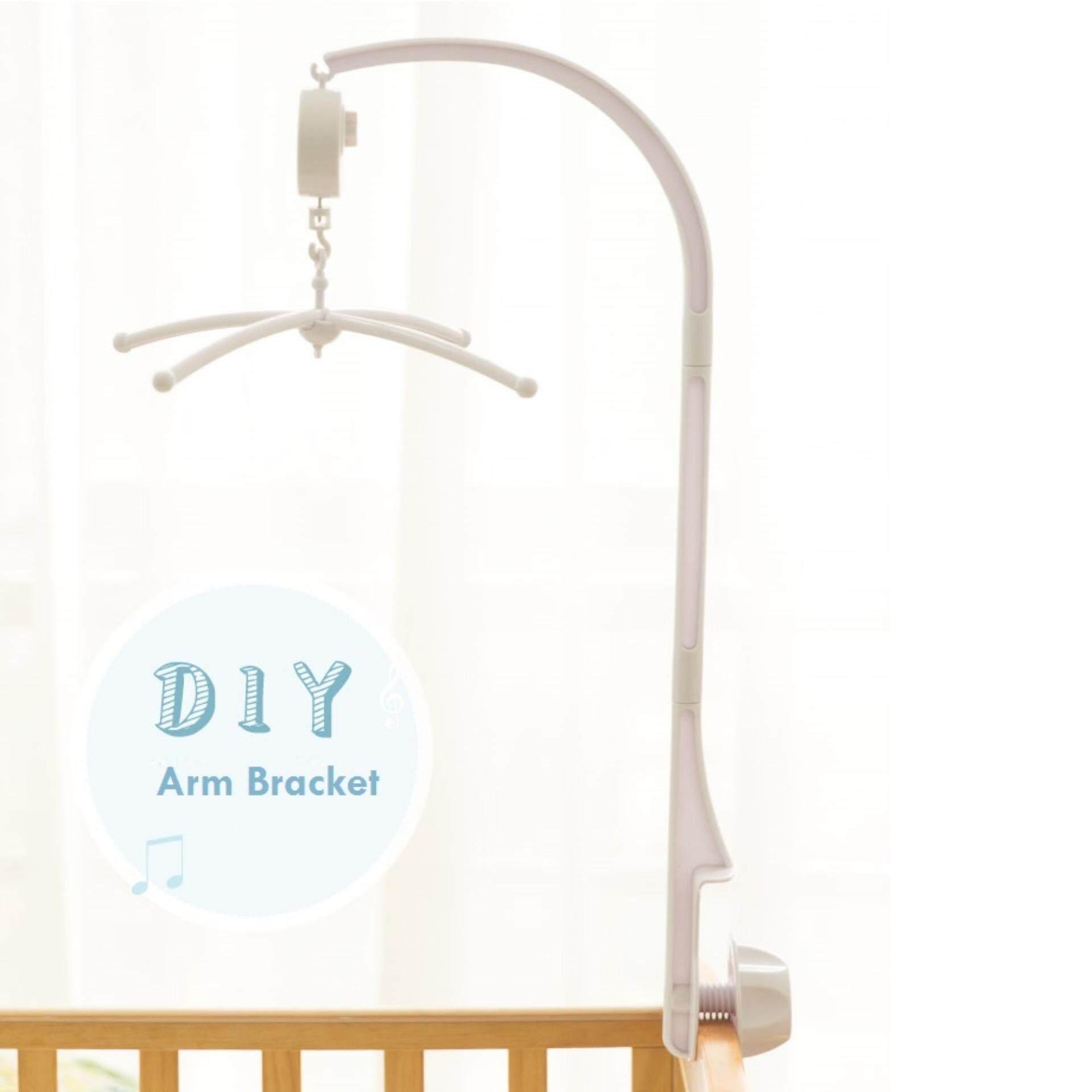 สีขาว 4 ชิ้นเปลเด็กเคลื่อนที่กระดิ่งติดเตียงของเล่นของเล่นเด็กทารก + Wind - Up กล่องดนตรี (intl) - Intl.