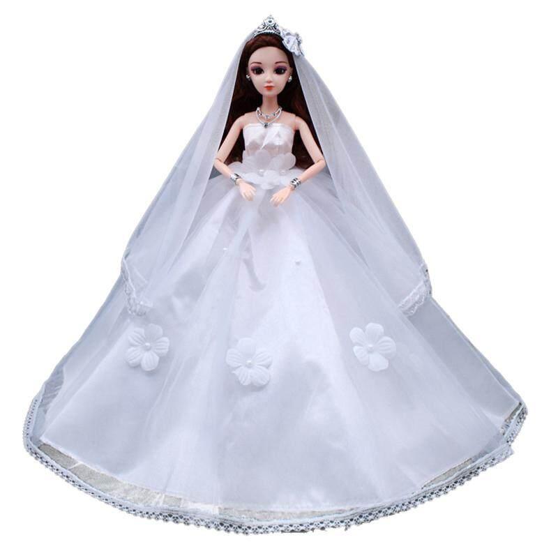 Gaun Pengantin Putih Mantilla Pesta Mini Gaun Modis Pakaian untuk Boneka  Putri Barbie Anak Bayi Perempuan 0023634cce