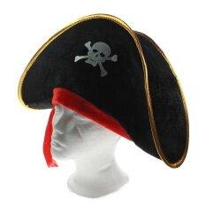 Whyus Mewah Tengkorak Cetak Kapten Perompak Cap Halloween Masquerade Kostum  Pesta Topi Prop untuk Anak- 2d255f923a