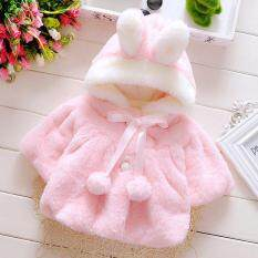 Winter Newborn Baby Girls Fur Coat Cloak Jacket Snowsuit Outerwear Clothes By Amazingly.
