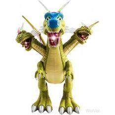 Wolvol 3-Kepala Keluarga Dino Mainan Dinosaurus Gambar dengan Banyak Lampu & Keras Gemuruh Suara nyata Gerakan Kepala Tangan Kaki (Powered)