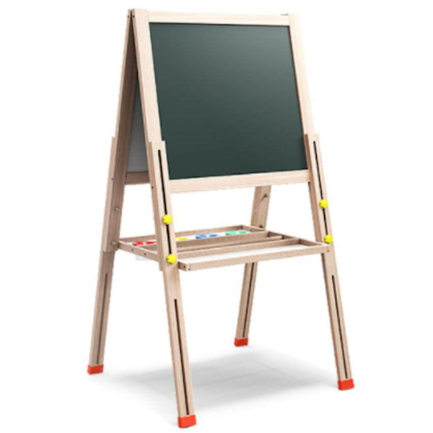 Wooden 2 in 1 Black board & White Board Easel Set (Extendable)