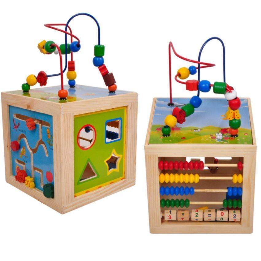 Montessori Bead Maze Learning Activity Cube Educational Toy Toys Gifts
