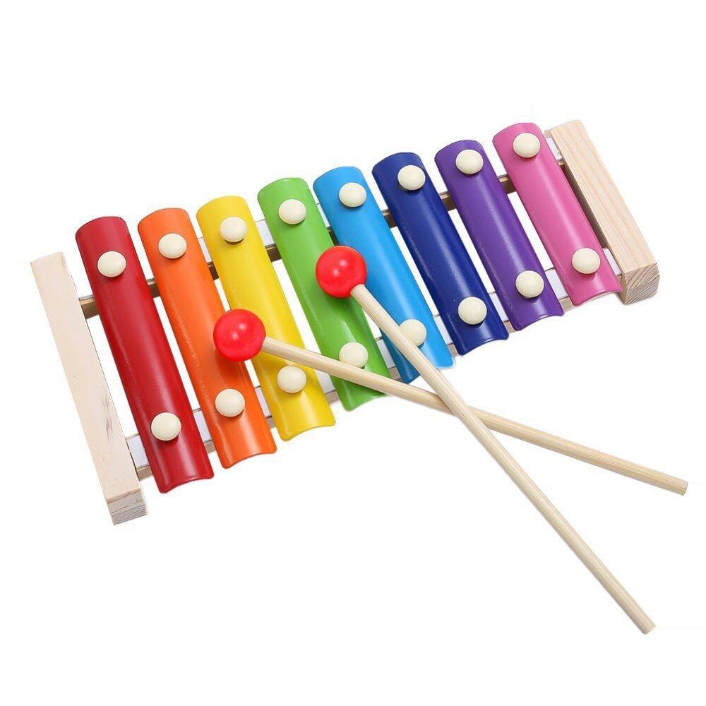 Kayu 8 Kunci Catatan Xylophone Mainan Tangan Benturan Piano Alat Musik untuk Anak-anak Berusia 1-10 Tahun-Internasional