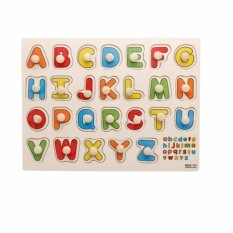 Wooden Alphabet Educational Learning Toys Child Early Puzzle Board 1 To 3 Years Old By Cw Online.