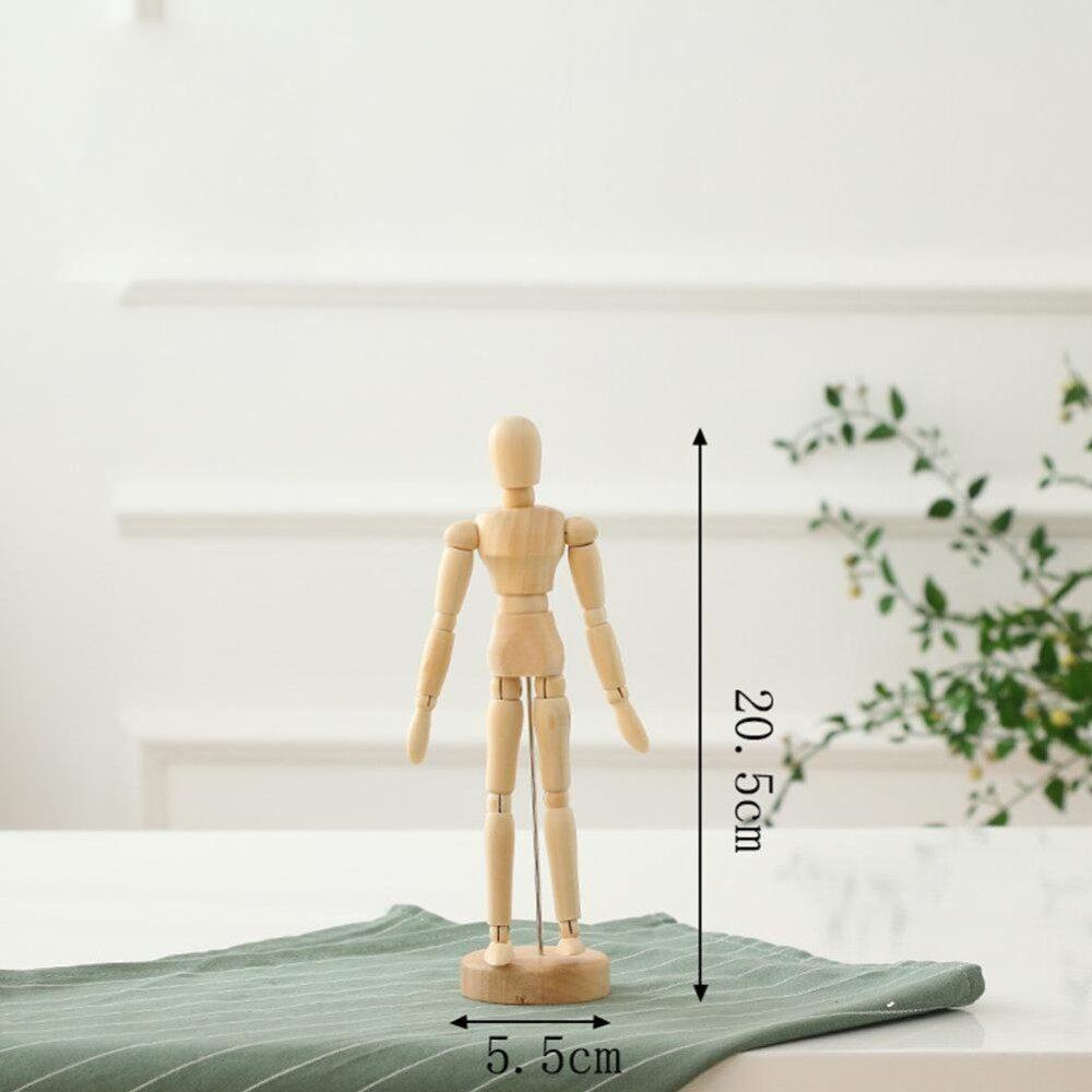 Kayu Artis Bergerak Tips Kayu Male Action Figure Model Manekin BJD Seni Menggambar Sketsa Action Figure