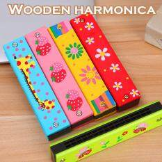 Wooden Harmonica 16 Hole Mouth Organ Harmonicon For Kids Children Music Toys By Esun.