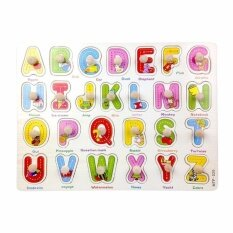 Wooden Pegboard / Wooden Puzzle / Abc Puzzle / Early Childhood Educational Toys By Little Baby Store.