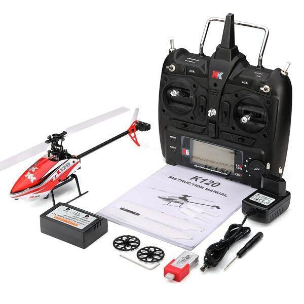 XK K120 Antar-jemput 6CH Brushless 3D6G Sistem RC Helikopter RTF-Intl