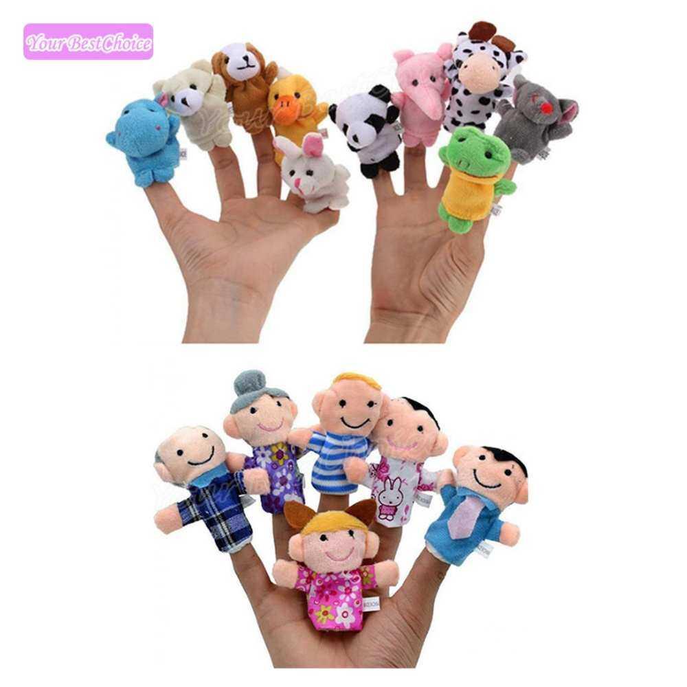 YBC 16 Pcs Kartun Boneka Jari Lembut Mainan Cenderamata Bayi Biologis Boneka Anak