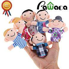 Ybc 6pcs Family Finger Puppets Cloth Doll Baby Kid Educational Hand Toy By Pawaca.