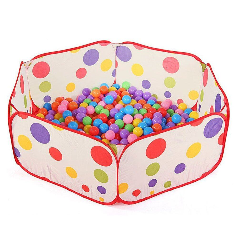 【expressdelivery+freeshipping】ybc Foldable Basketball Hoop Polka Dot Playpen Ocean Ball Pit Pool For Kids(size:90cm) (my) By Your Bestchoice.