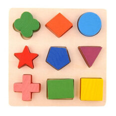 Ybc Kids Wooden Learning Geometry Educational Toys Puzzle Montessori Early Learning By Your Bestchoice.
