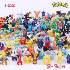 (ขายร้อน) 144 ชิ้นโปเกมอน Miniature ชุดมินิตัวเลขการกระทำชุดของขวัญของเล่น Pokémon Go.