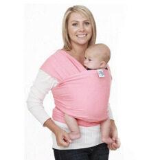 Yika Baby SLING Stretchy ห่อเลี้ยงลูกด้วยนม Carrier สำหรับทารกแรกเกิด - 3 ปี (สีชมพู)