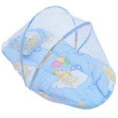 Yika Small Infant Baby Mosquito Insect Net Tent Mattress Cradle Bed Canopy Cushion Pillow Set S (blue) By Yikahome.