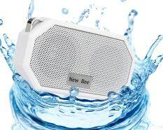 yongcai OXoqo IP66 Bluetooth 4.0 Portable Waterproof Wireless Speaker with Built-in Mic, Speaker for IPhone IPad IOS and Android Audio Devices, White