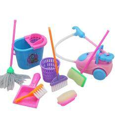Yoyotoy 9pcs/set Cleaning Tool Kids Pretend Play Preschool Learning Toys Broom Set By Yoyotoy.
