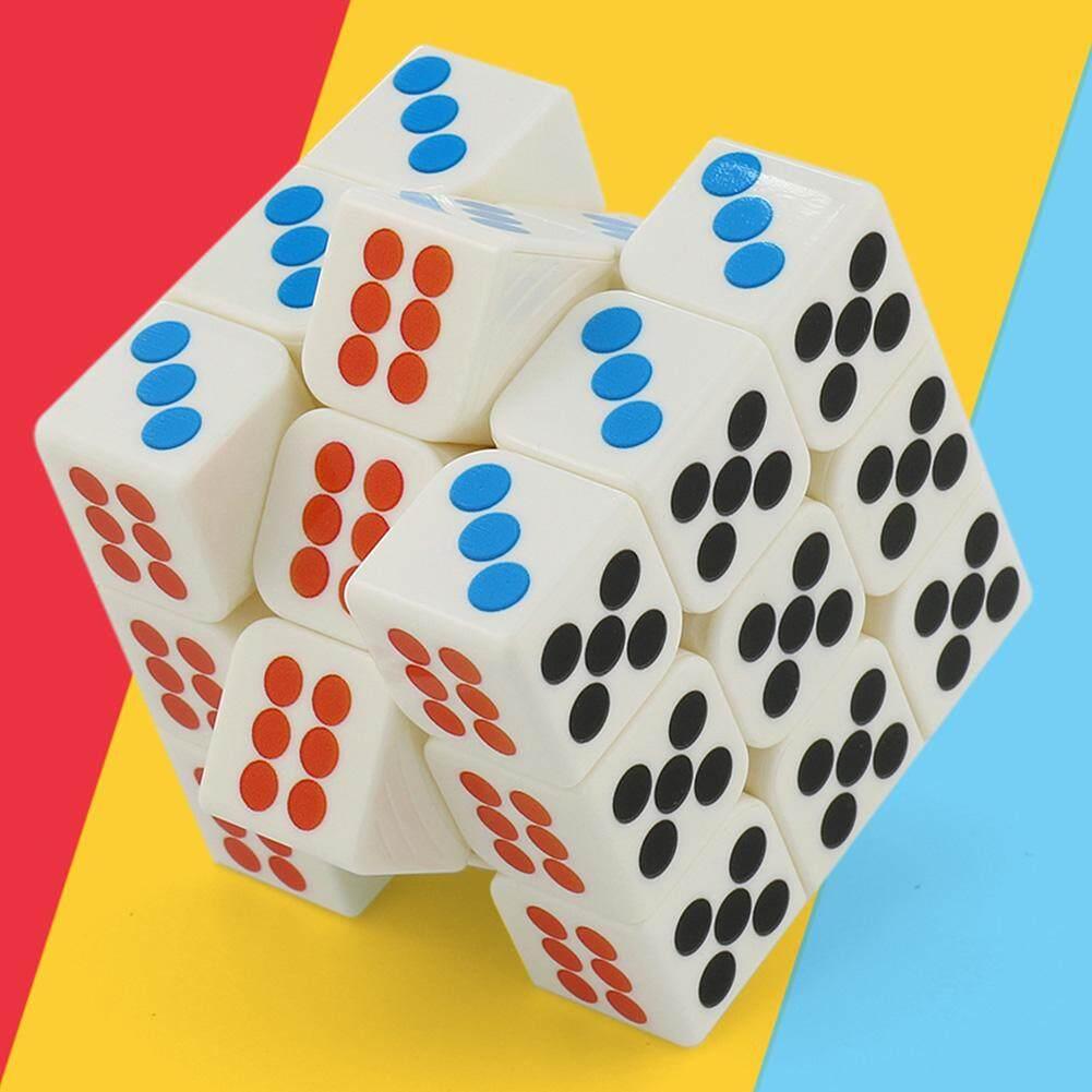 Beli sekarang Veecome 3X3 Pemotong Meja Kubus Teka-teki Pengasah Otak Balok Ketangkasan untuk Magic Mu Chibi-Pemain Pecinta Gaya: Putih untuk Anak-anak ...