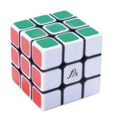 Veecome 3X3X3 Speedcubing Kubus Puzzle Wajah Putih Hitam Core 54.6 MM Mainan Figet untuk Anak-