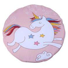 Yunmiao Cartoon Baby Playmat Crawling Pad Thickening Round Child Play Game Mat Children Developing Carpet Toy Color:e Unicorn.