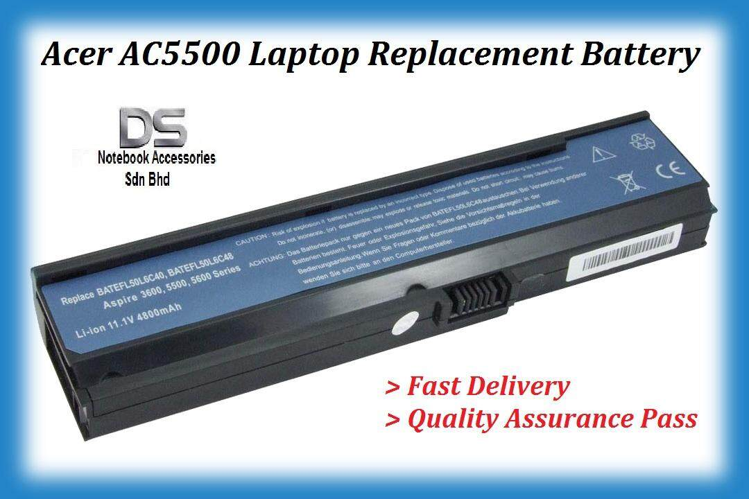 Replacement Laptop Battery for Acer Aspire 5583NWXMI / Acer Aspier AC5500 Battery Series Malaysia