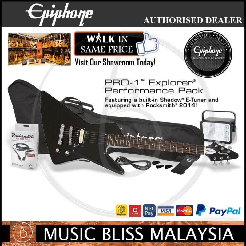 Epiphone PRO-1 Explorer Electric Guitar Package (Ebony) Malaysia