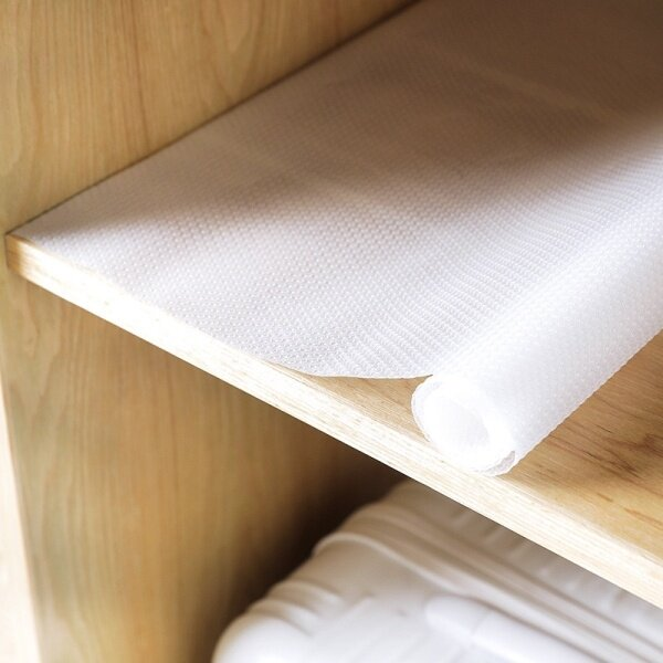Ready Stock EVA Non Slip Cupboard Drawer Mat Shelf Liner Cabinet Pad Rubber Kitchen Cleaning Tool Table Cover