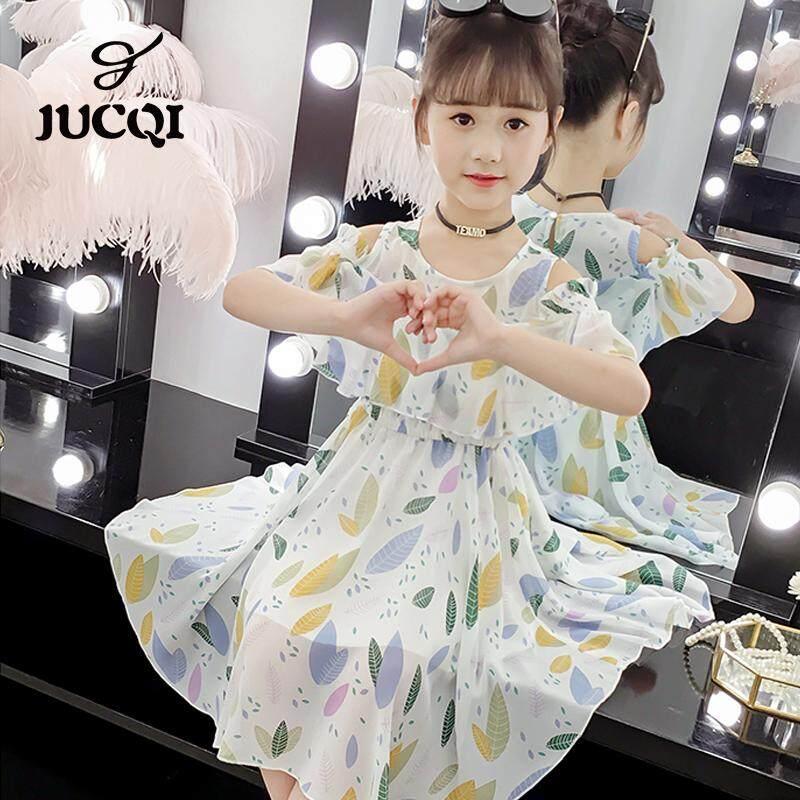 Giá bán JUCQI Nữ Thời Trang mùa hè 2019 Hàn Quốc mới trẻ em mùa hè voan chân váy hoa