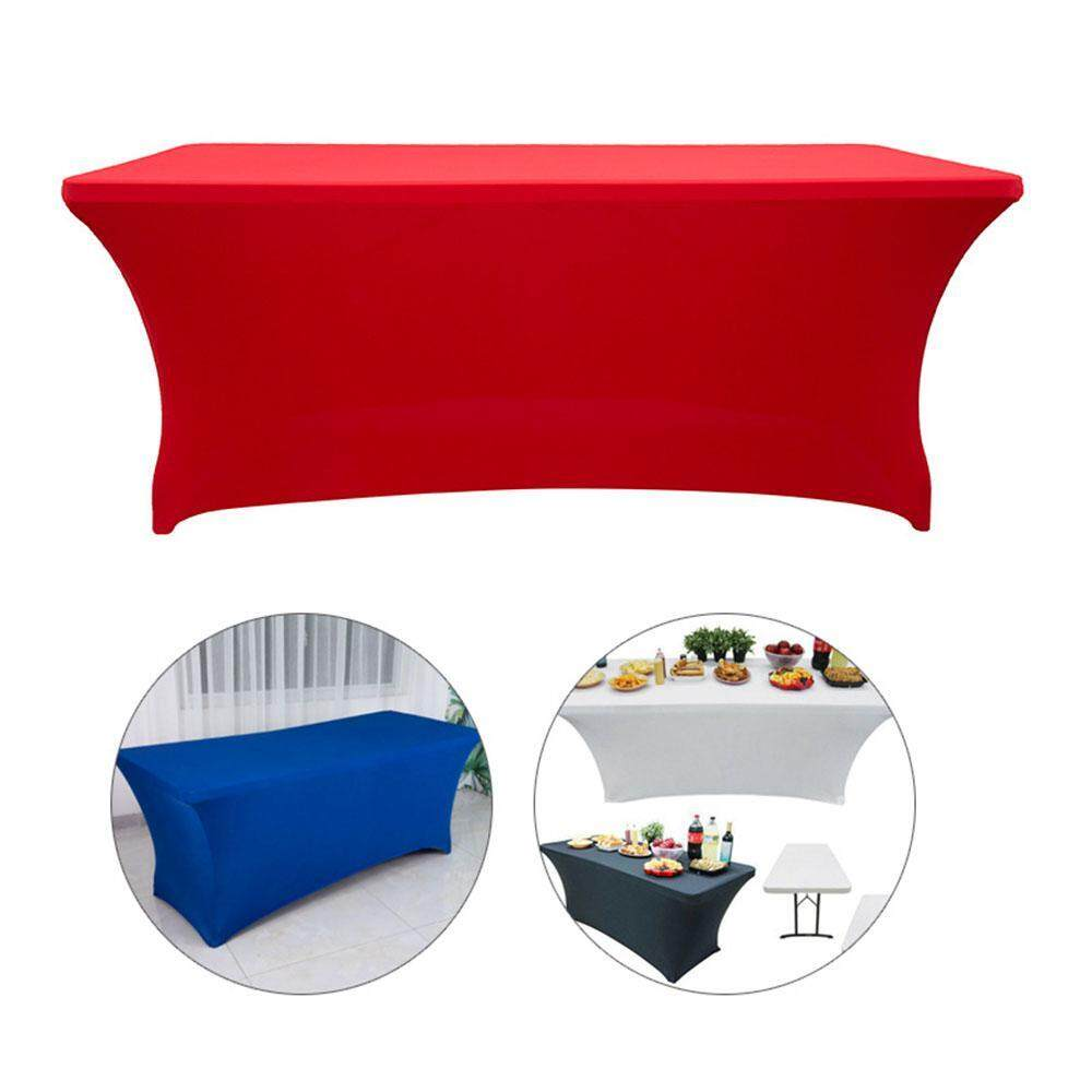 GoodGreat Rectangular Table Cover Stretch Spandex Adorox Table Cloth for Holidays Wedding Party Buffet Holidays
