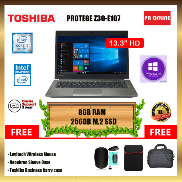 Toshiba Portege Z30-E107 - Intel Core i7-8550U /8GB-16GB RAM /512GB SSD /Intel UHD Graphic /Windows 10 Pro /3 Years Onsite Warranty Malaysia
