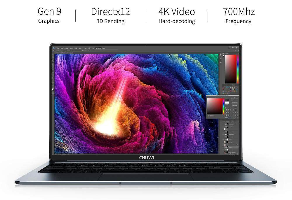 CHUWI 2019 LAPBOOK PRO 14 8GB DDR4 256SSD edtion FHD Full laminated display N4100 ( i5 5200 alike)  slim 1.4kg light metal design 7-9 hours battery notebook laptop ( 1 year local warranty ) Malaysia