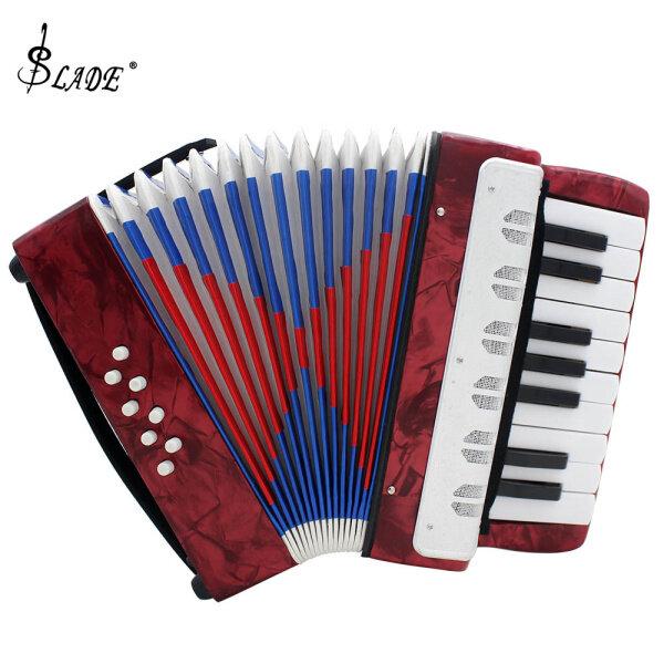 SLADE 17 Keys Mini Accordion Educational Musical Instrument Cadence Band for Both Kids & Adult Light Blue Malaysia